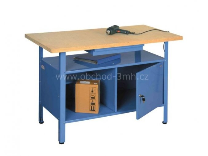 Ponk - dílenský stůl SW2 1200x600x830 mm, 1 zásuvka