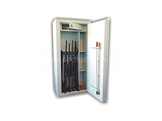 Skříň trezor na zbraně WSB 6 KOMBI - dvouplášťový