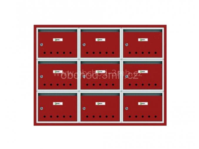 Poštovní schránka PE-02 v sestavě pro zazdění
