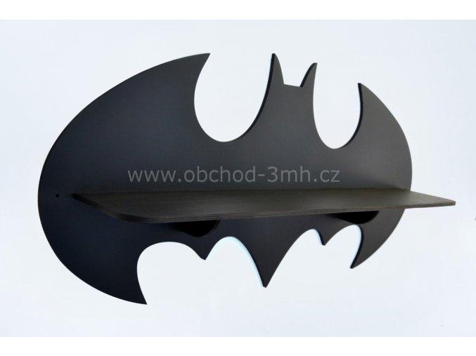 Dětská dřevěná polička - BATMAN - BAREVNĚ LAKOVANÁ