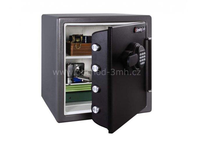 Ohnivzdorný a vodotěsný sejf model SentrySafe SFW123FSC FireData