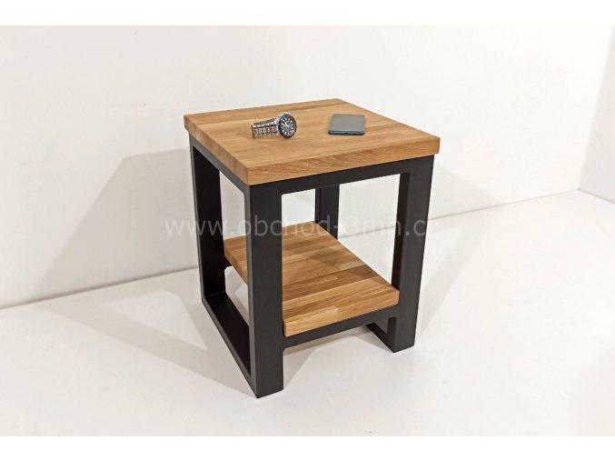 Noční stolek ECHT - masivní deska dub
