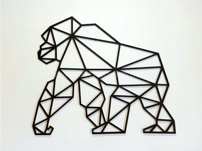 Dřevěný obraz - GORILA - BAREVNĚ LAKOVANÝ