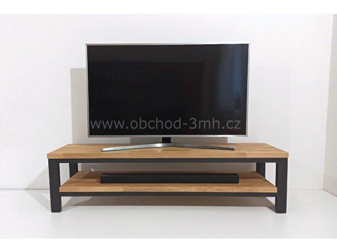 Televizní stolek ECHT I6/3 - masivní deska DUB 1