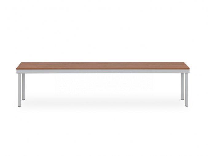 Šatní lavice se širokým sedákem, 460 x 2000 x 550 mm - lamino/kov