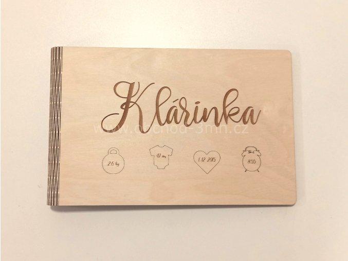 Dřevěné fotoalbum PRO MIMINKO