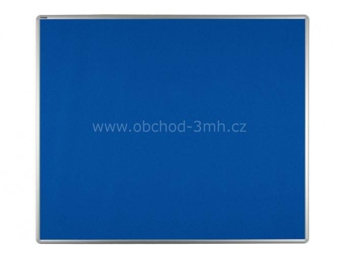 Textilní tabule ekoTAB 120x90 cm, modrá