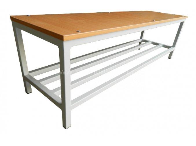 Šatní lavice, 460 x 1500 x 350 mm - lamino/kov