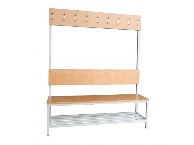ŠŠatní lavice s věšáky STATIK-12V, 1800 x 1200 x 430 mm