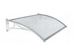 Stříška vchodová MODUL 2 stříbrná - variabilní 1400x700x5mm