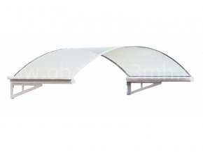 Stříška vchodová ROMA 1500x1000mm Bílá