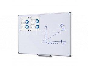 Popisovatelná magnetická tabule - Whiteboard SCRITTO 90x120 cm
