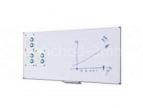 Popisovatelná magnetická tabule - Whiteboard SCRITTO 100x200 cm