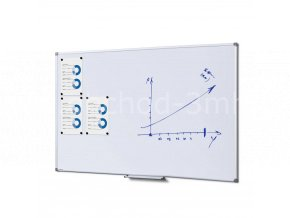 Popisovatelná magnetická tabule - whiteboard SCRITTO enamel, 1000x1500mm