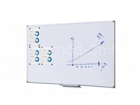 Popisovatelná magnetická tabule - Whiteboard SCRITTO 100x150 cm Enamel