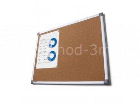 Korková tabule SCRITTO, 900x1200mm
