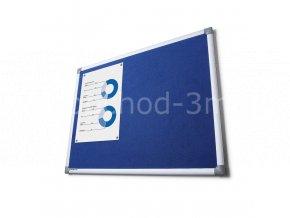 Textilní tabule SCRITTO, modrá, 450x600mm