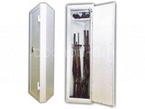 Skříň trezor na zbraně EWS 6 rohová s elektronickým zámkem
