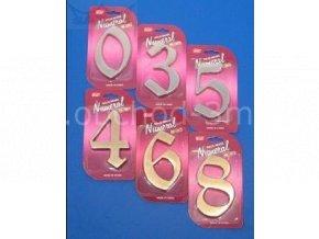 """Číslice fasádní """"6"""" NB 125mm Ni-broušený"""