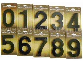 """Číslice fasádní """"0"""" NT6 152mm černá-mat"""