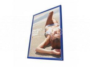 Klaprám A0, ostrý roh, profil 25mm, barva RAL 5010 modrá