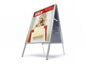 Interiérové reklamní áčko A2, ostrý roh, profil 25mm