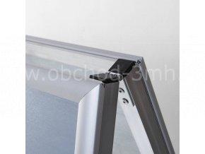 Reklamní áčko A2, ostrý roh, profil 32mm, metalová záda