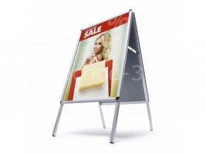 Interiérové reklamní áčko A2, oblý roh, profil 25mm
