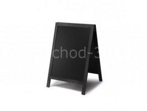 Reklamní áčko s křídovou tabulí 55x85, černá