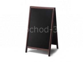 Reklamní áčko s křídovou tabulí 68x120, tmavě hnědá