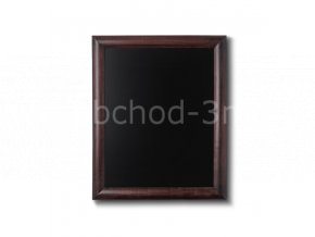 Dřevěná tabule 40x50, tmavě hnědá