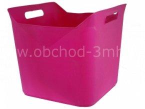 Koš plastový čtvercový, 36x36x31 cm, fialový