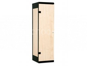 Šatní skříň 1-dveřová, 1750 x 420 x 500 mm - lamino/kov