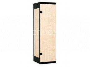 Šatní skříňka 1-dveřová, 1970 x 420 x 500 mm - lamino/kov