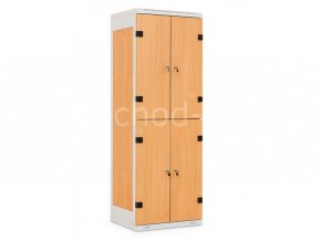 Šatní skříňka 4-boxová, 1525 x 600 x 500 mm - lamino/kov