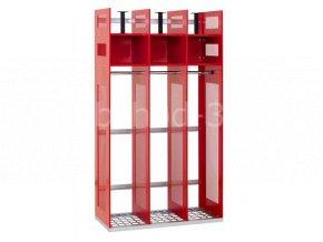 Skříň pro hasiče IPS doplňující sestava, 1780 x 1000 x 500 mm - kovová