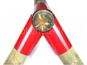 Spojka k houpačce kruhová 10cm - červená