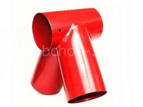 Spojovací díl, rohový spoj pro kulatinu Ø 100/100 mm - červený