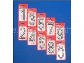 """Číslice na dveře """"6"""" NZ 75mm Ni-broušený"""