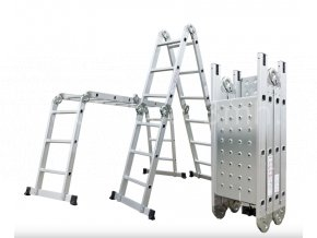 Hliníkové štafle G21 GA-SZ-4x3-3,7M multifunkční + podlážka