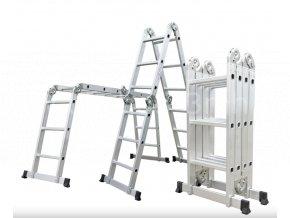 Hliníkové štafle G21 GA-SZ-4x3-3,7M multifunkční