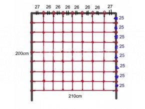 Lezecí síť 2,1 x 2m