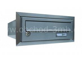 Poštovní schránka MB rovná k zazdění do sloupku BROUŠENÝ NEREZ