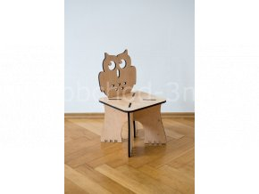 Dětská dřevěná stolička - SOVA