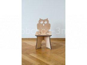 Dětská dřevěná stolička - SOVIČKA