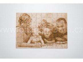 Dřevěné puzzle z fotografie - A4