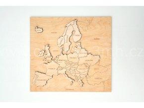 3D puzzle - dřevěné - MAPA EVROPY