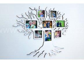 Fotorámeček - Dřevěný strom malý barevně lakovaný