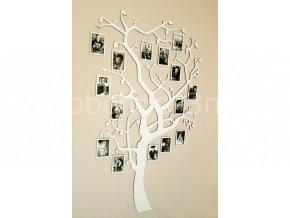 Fotorámeček - Dřevěný strom s rámečky na zavěšení barevně lakovaný