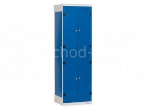 Šatní skříňky 4-boxové, 1525 x 600 x 500 mm - kovové